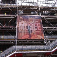 The front of the Pompidou, towards the top.