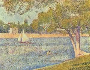 "George Seurat, ""The Seine and la Grande Jatte - Springtime 1888, Royal Museums of Fine Arts of Belgium. Source: Wikipedia."