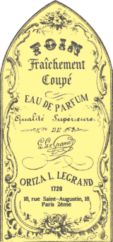 Foin Fraichement label and logo. Source: Oriza L. Legrand website.