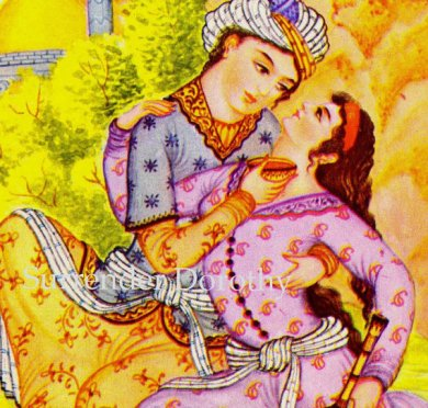 """""""Persian Lovers The Rubaiyat By Omar Khayyam 1940s Vintage Lithograph"""" from Surrender Dorothy Etsy Shop. (Website link embedded within.)"""