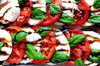 Caprese salad. Photo, recipe, and source: The Pioneer Woman website. (Link embedded within. Click on photo.)