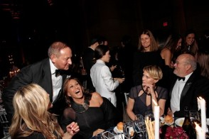 John Dempsey, left, at a gala in New York with designer Donna Karan, in black, actress Robin Wright, second from right, and fashion photographer Peter Lindbergh. Photo: Elizabeth Lippman for The Wall Street Journal. Source: wsj.com