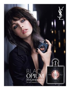 Edie Campbell for YSL Black Opium. Photo: Txema Yeste & Daniel Wolfe. Source: fashioncopious.typepad.com