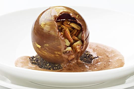 Molecular gastronomy chocolate sphere. Source: specertified.com