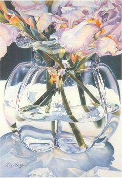 """Clearly glass"" by Liz Rogers at Liz Rogers Watercolors. (Website link embedded within.)"