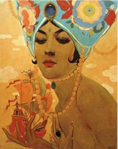 """scheherazade"" by Alberto Vargas, 1921. Source: cataxe.com"