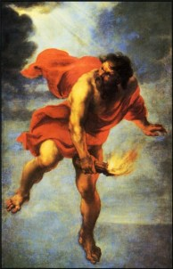 """Prometheus Carrying Fire"" by Jan Cossiers, 1600-71. Source: allposters.com"