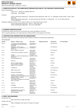 Perfumers rely on things like the hazardous materials percentage breakdown in reports by companies like Robertet. This is part of a Robertet Safety Assessment report for Jasmine, showing a composition breakdown of its chemical parts. Source: sevron.co.uk