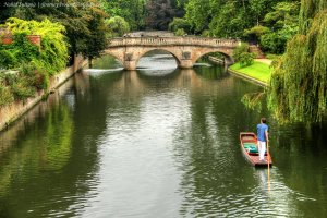 The River Cam. Photo: Nahid Sultana at journeyaroundtheglobe.com. (Direct website link embedded within.)