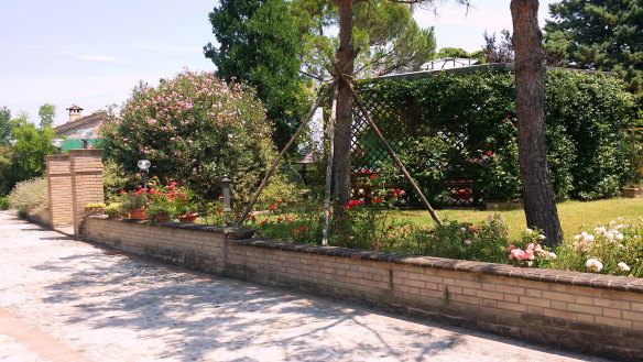 Part of the garden area in front of the hotel. Photo: my own.
