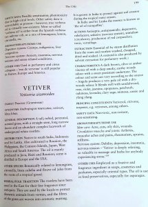 Page from the Lawless book on Vetiver. Photo: my own.