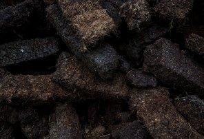 Peat bricks, Islay, Scotland via bruichladdich.com