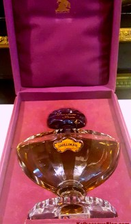 Vintage Shalimar Parfum, 1950s or 1960s, 2 oz, Marly horse purple velvet box. Photo: my own.