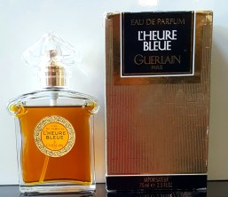 L'Heure Bleue in the black-and-gold box, copyright 1997, but with a July 2003 batch code, 3L01.