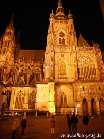 Der Dom auf dem Schlossberg bei Nacht