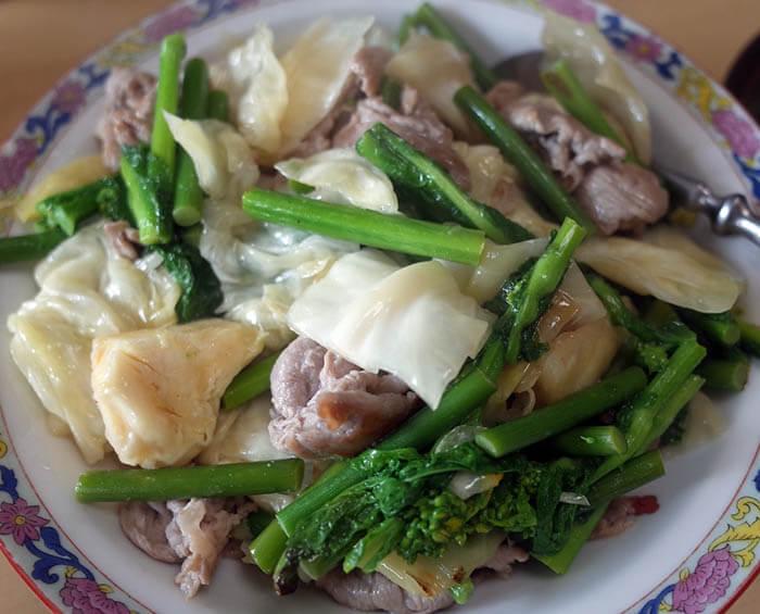 乳酸発酵キャベツと豚肉の中華炒め