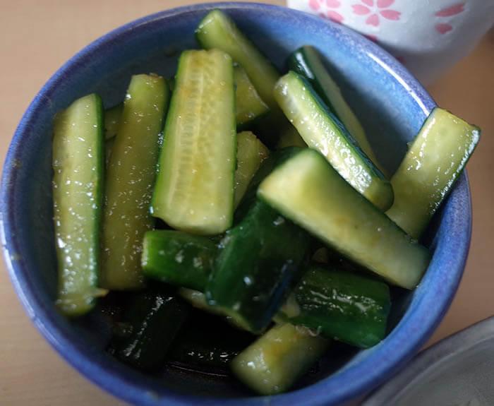 胡瓜の中華風漬物