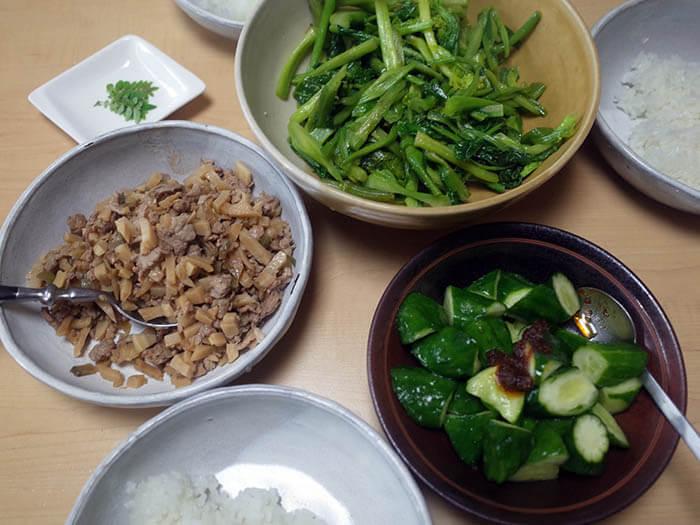 豚肉と筍の中華そぼろ