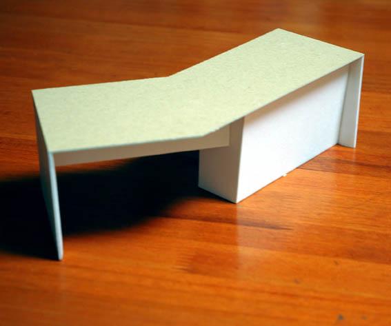 特注オーダー書斎机の模型
