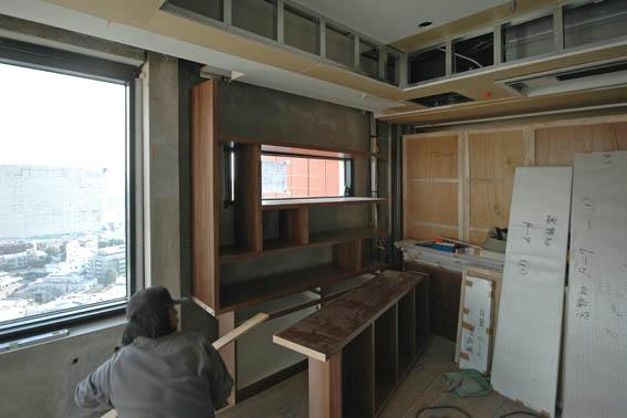 書斎造り付け家具の据え付け工事