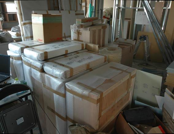搬入された家具