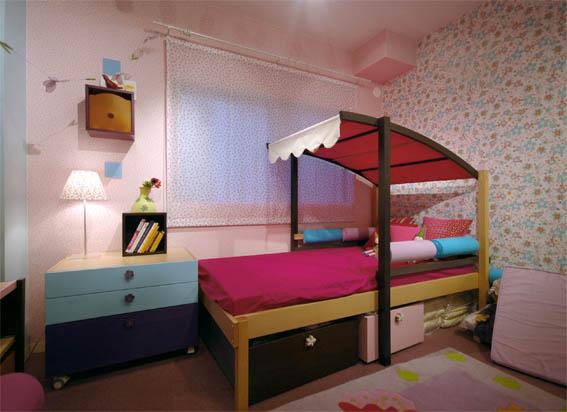 女の子の部屋のインテリア