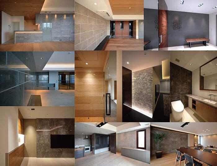 大理石とタイルと目地の関係写真_カガミ建築計画