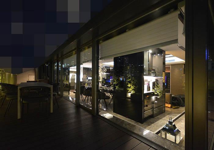 超高級マンション港区R邸の夜景
