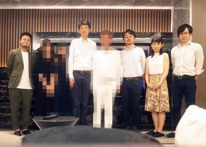 竣工祝いお寿司パーティー@港区R邸の記念撮影