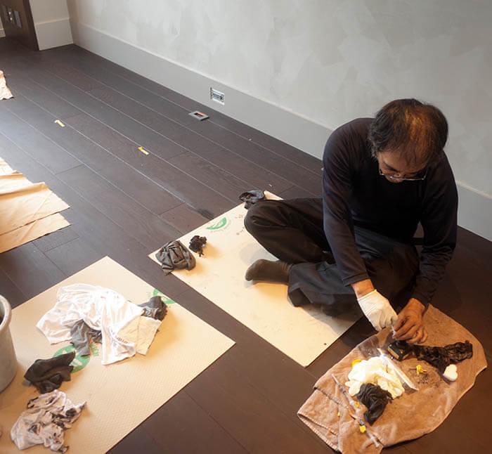 床フローリング補修工事