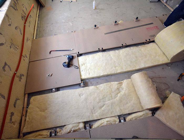 ヴィンテージマンションリフォームの床遮音下地