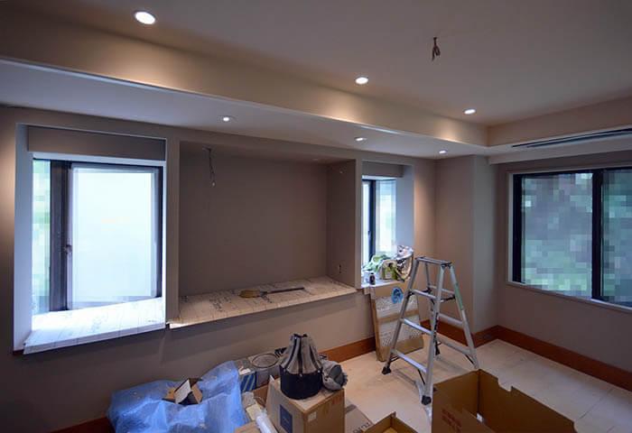 塗装仕上げの主寝室