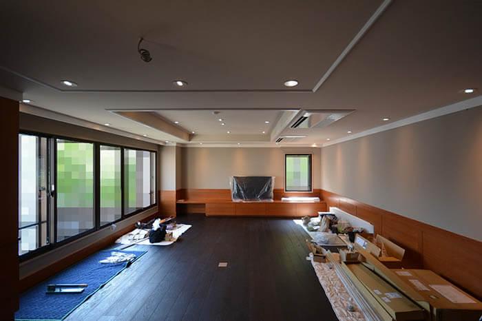 駒沢X邸竣工検査_リビングダイニング