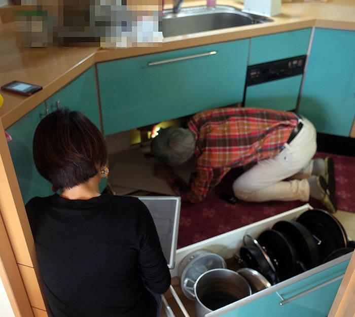 リノベーションの為の床下設備調査