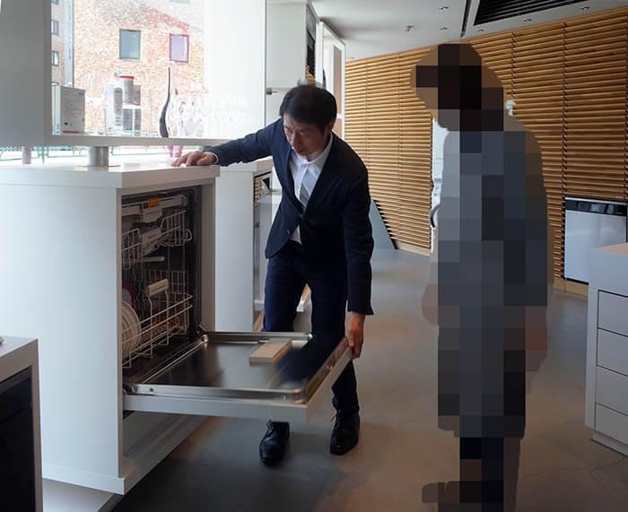 ミーレ青山ショールーム食洗器