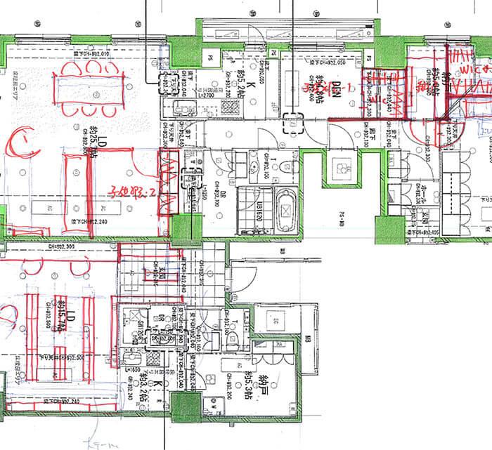 2戸連結のマンションリフォーム麹町N邸