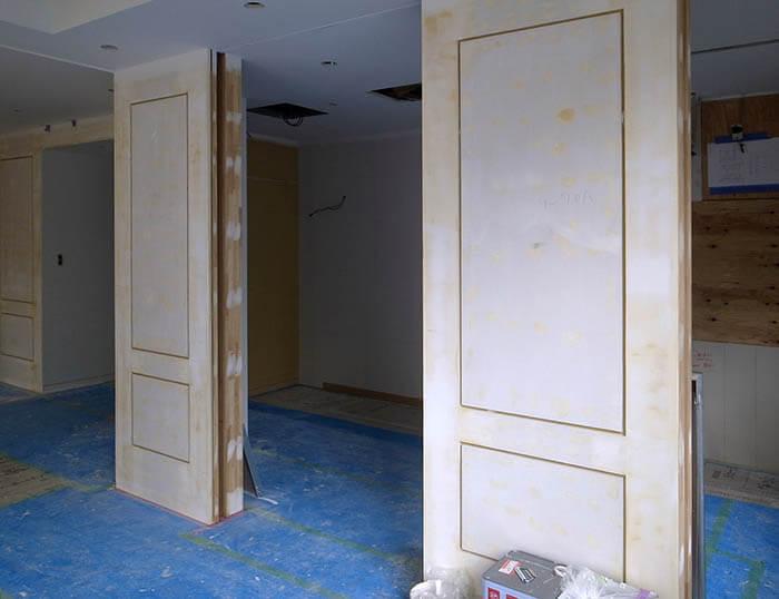 パネル仕様壁の塗装下地