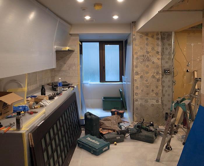 キッチン部分解体後