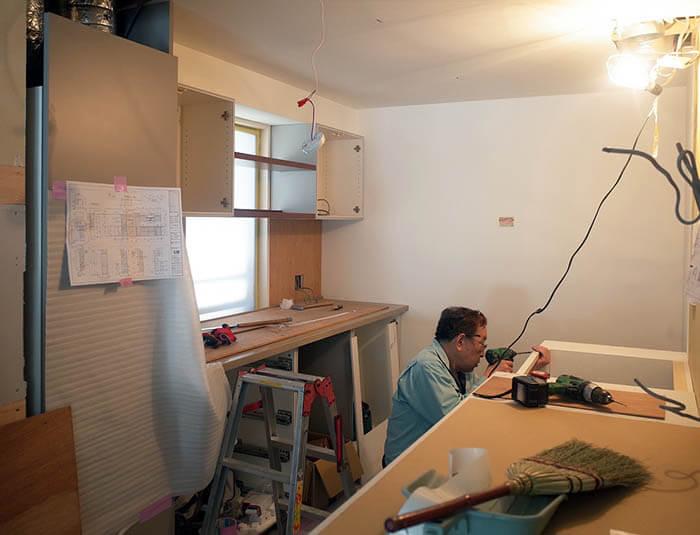 リブコンテンツのオーダーキッチン組み立て@麹町K邸