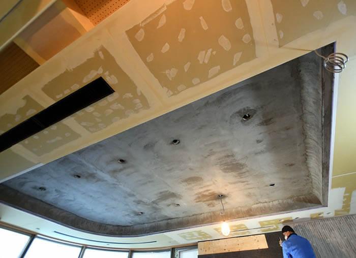エクセルジョインで全面処理したリビング折り上げ天井