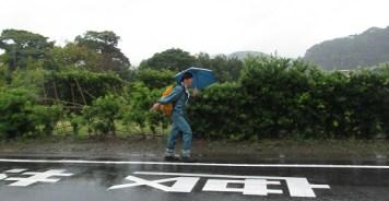 3日目は雨の中の歩行