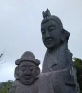 牛島に点在する石碑(ハラボジ&ハルモニ)