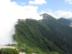 大天井岳への縦走路