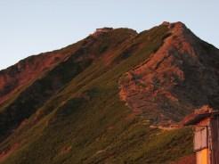朝焼けの赤岳