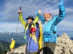 唐松岳登頂