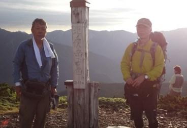 北の俣山山頂でのスナップ