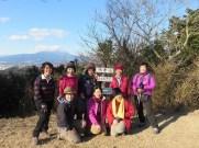 徳倉山で、参加した女性だけで