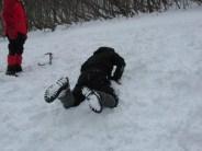 ピッケルによる滑落停止訓練 方法1