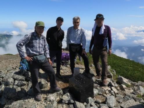 雪倉岳山頂 2611m
