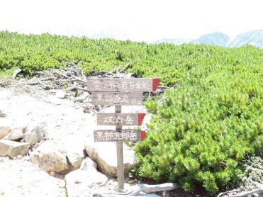 三俣山荘の標識
